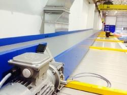 horizontal modular conveyor onsite
